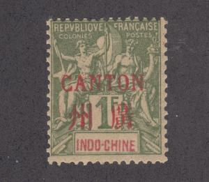 France, Canton Sc 13 MNH. 1901 1f w/ red ovpt