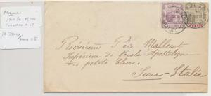 MAURITIUS TO ITALY 1909 CUREPIPE RD CDS, 15c RATE TO SUSE (SEE BELOW
