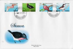Samoa 2013 FDC Threatened Species Definitive 12v Set on 3 Covers Birds Bats