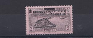 FRENCH COLONIES EQUATORIAL AFRICA  1932 - 3  2C BLACK/ROSE  M H