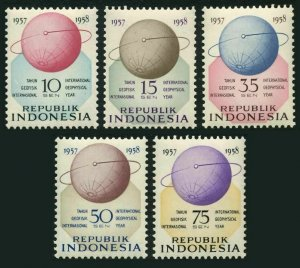 Indonesia 460-464,MNH. International Geophysical Year IGY-1957-1958.Satellite.