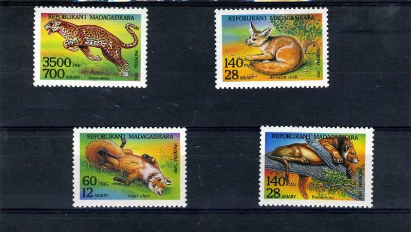 TURKMENISTAN 1994 Wild Animals set (4) Perforated Mint (NH)