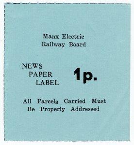 (I.B) Isle of Man : Manx Electric Railway Board - Newspapers 1p