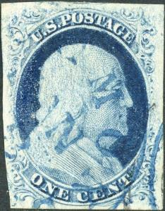 #9 VF+ USED WITH BLUE CANCEL LARGE MARGINS CV $115.00 BN4958