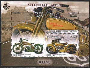 Spain. 2014. bl 258. Motorcycles. MNH.