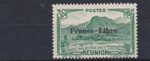 FRENCH COLONIES  REUNION  1943    45C  GREEN   FRANCE LIBRE    MH