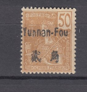 J28866, 1906 france office china yunnan fou mhr #28 ovpt