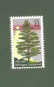 2246 Michigan Statehood Single Mint/nh FREE SHIPPING