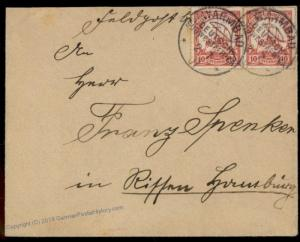 Germany SW Africa 1907 WARMBAD DSWA Feldpost Rissen Expertized Cover 77839