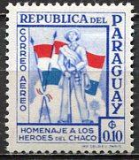 Paraguay; 1957: Sc. # C233: */MH Single Stamp