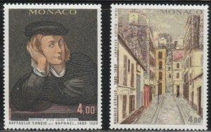 Monaco #1387-1388 MNH Full Set of 2 cv $6.50