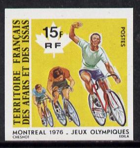 French Afars & Issas 1976 Montreal Olympics 15f Cycli...