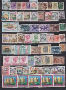 LOT OF DIFFERENT STAMPS OF ITALY USED (63) LOT#155