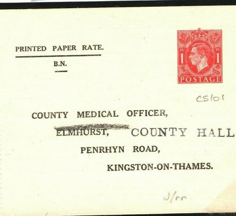 GB MEDICAL Stationery Card *Rouletted* CS101 Surrey 1947 BIRTHS BABY HEALTH E318