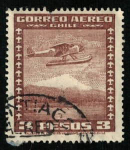 Chile, 3 pesos, AirMail (T-7418)
