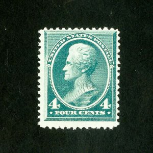 US Stamps # 211 F-VF Fresh dist OG LH Scott Value $225.00