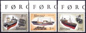Faroe Islands. 1987. 151-3. Ships. MNH.