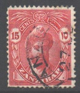 Zanzibar Scott 203 - SG312, 1936 Sultan 15c used