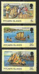 Pitcairn Island # 174-76  Bounty Day   (3) Mint NH