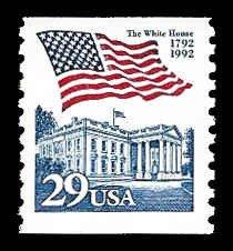 PCBstamps  US #2609 29c Flag/White House, coil, MNH, (12)