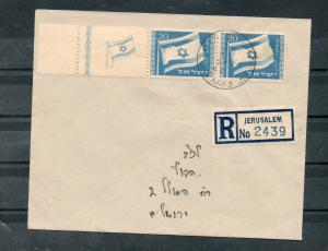 Israel Scott #15 Flag Left Full Tab on Registered Mailed FDC!!
