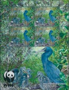 Cook Islands Penrhyn 2008 SG550 $1.95 Egret sheet MNH