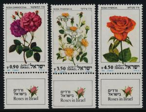 Israel #791-793 MNH with Tabs