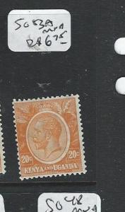 KENYA AND UGANDA (PP2908B) KGV 20C  SG 83A  MNH