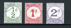 Bechuanaland Protectorate 1932-58 Postage Due set FU CDS