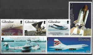 2003  GIBRALTAR  -  SG.  1045 / 1050  -  POWERED FLIGHT  -  MNH