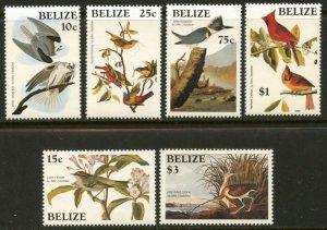 BELIZE Sc#750-756 1986 John Audubon Birds Set & Souvenir Sheet Complete Mint NH