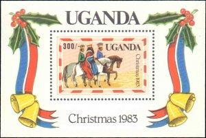 Uganda #395-399, Complete Set(5), 1983, Christmas, Never Hinged