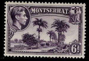 MONTSERRAT GVI SG107, 6d violet, M MINT. Cat £25. PERF 13