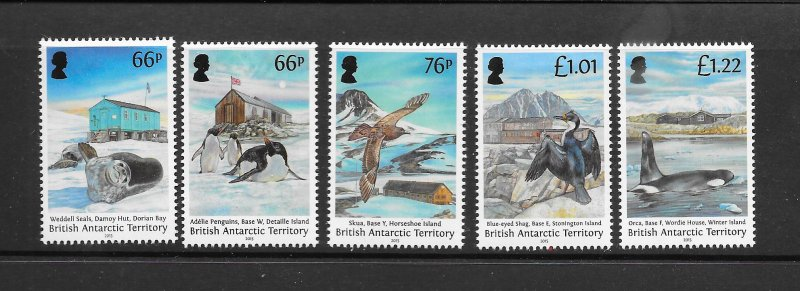 PENGUINS - BRITISH ANTARCTIC TERRITORY #496-500    MNH