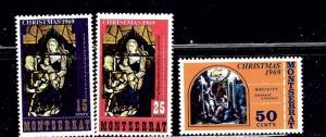 Montserrat 224-26 MLH 1969 Christmas