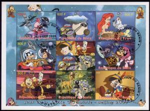 WHOLESALE LOT : 10 x BENIN Disney/Pinocchio/Mickey Sheetlet (9) Fine Used