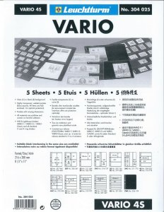 Lighthouse VARIO Stock Sheet Double Sided 4 Pocket Protector Pages Size: 4S