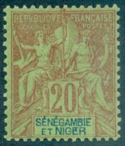 Senegambia & Niger #7  Mint  Scott $12.50   No Gum