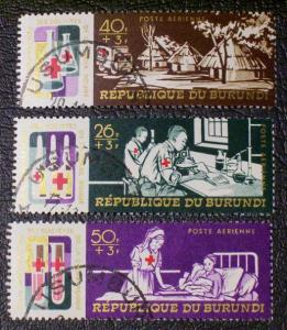 Burundi Scott #CB9-CB11 used