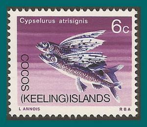 Cocos 1969 Flying Fish, MNH  13,SG13