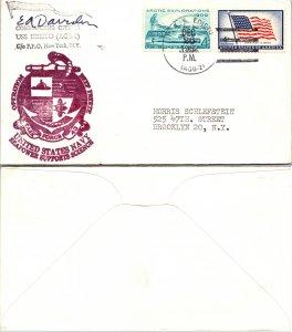 1962 USS EDISTO + CACHET + SIGNED, 1962, Polar