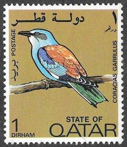 Qatar SC 279 * European Roller * MNH * 1972