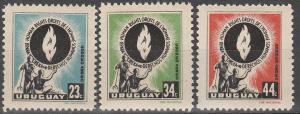 Uruguay #C179-81  MNH F-VF  (V1058L)