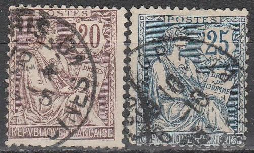 France #135-6 Fine Used  CV $16.25  (A2409)