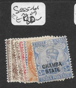 INDIA CHAMBA  (P2409B) KGV SG55-61  MOG