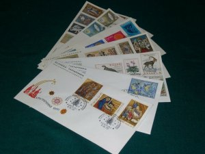 Greece 1970 year set official FDC's.