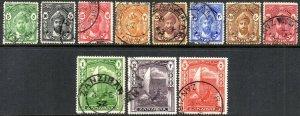 1936 Zanzibar Sg 310/320 Short Set of 11 Values Fine Used
