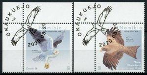 Namibia Birds on Stamps 2020 CTO Kites Yellow-Billed Kite Birds of Prey 2v Set