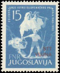 Yugoslavia-Trieste #85, Complete Set, 1953, Never Hinged