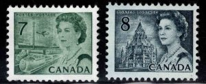 Canada Scott 543-544 MNH** 1971-1972 stamp set